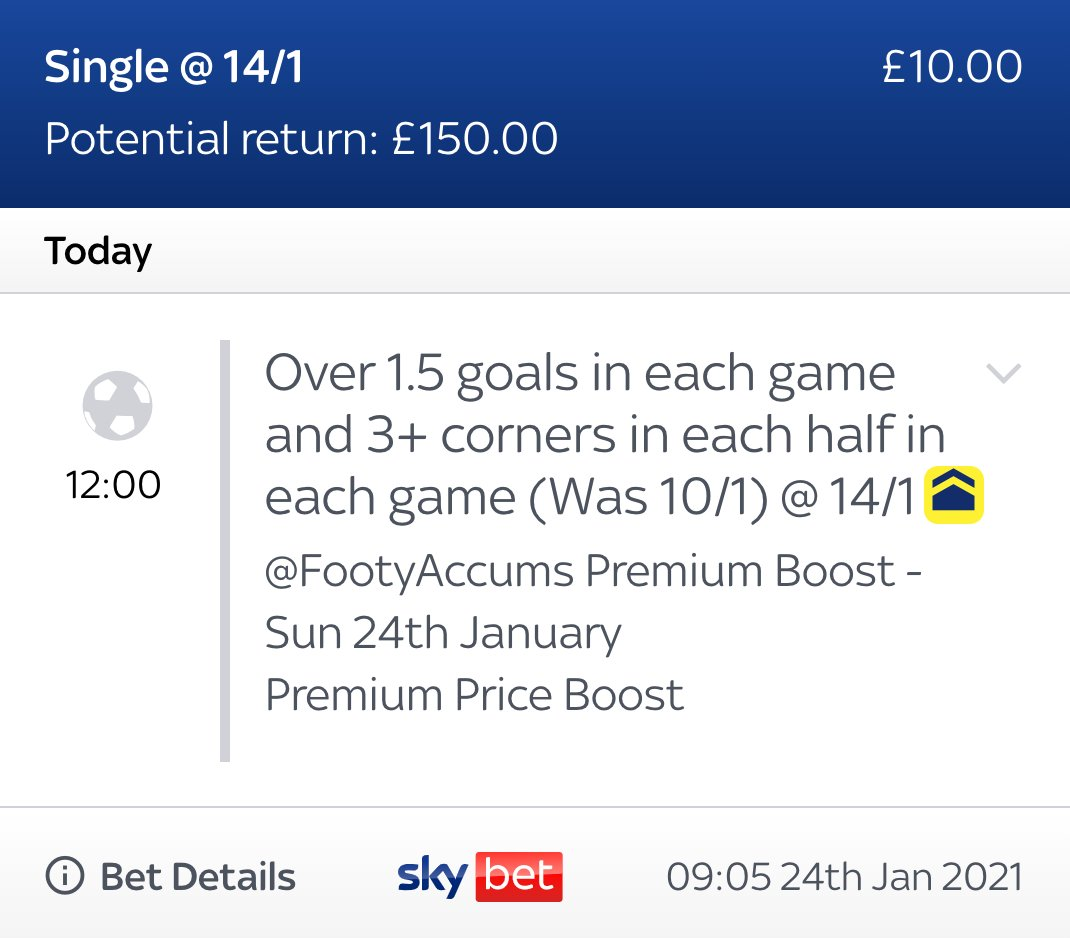 ICYMI: Gone for this Premium Boost for today's FA Cup matches! 🏆🏆🏆  WAS: 10/1 (as of 9am 24/01) NOW: 14/1 for ALL customers  EXCLUSIVE link >>>   #Ad 18+ |  | Always Gamble Responsibly