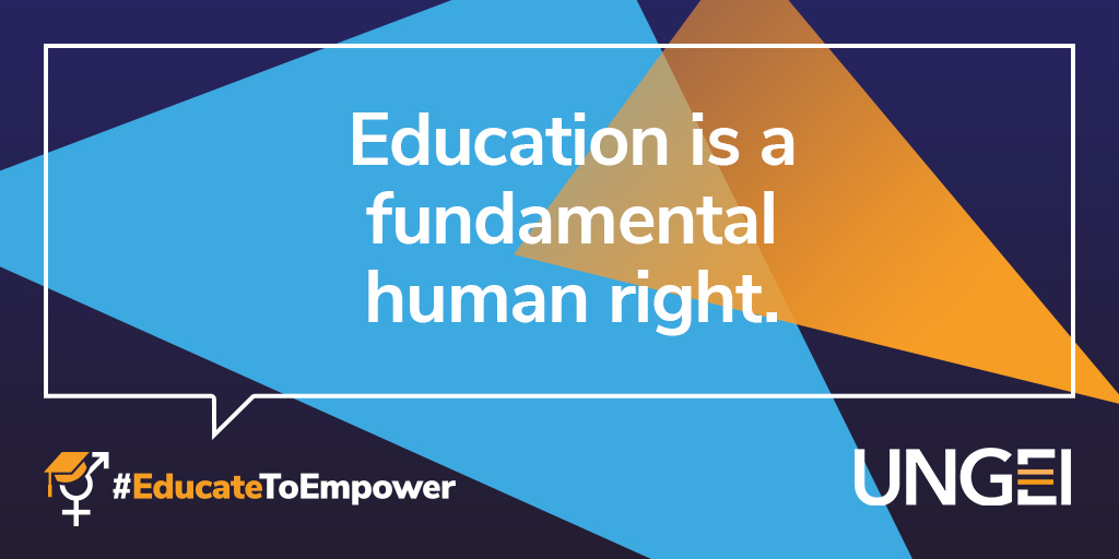 This #EducationDay we are reminded of 2 fundamental truths.   Education is a human right.  Safe, quality, and gender-responsive education for all is our collective responsibility.   #EducateToEmpower