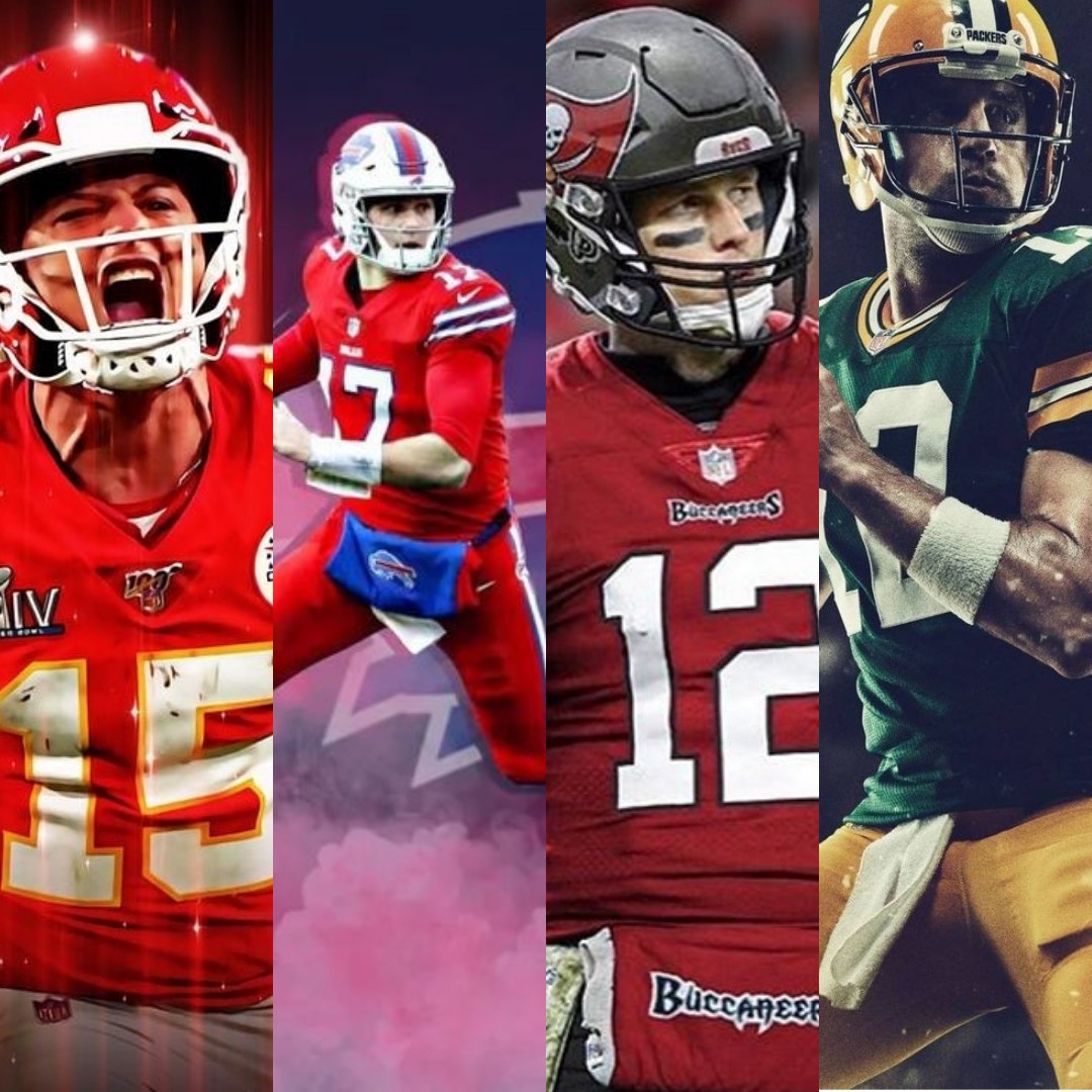 Who will lead their team to victory? #AFCChampionship #NFCChampionship #ChiefsKingdom #BillsMafia #Packers #Buccaneers