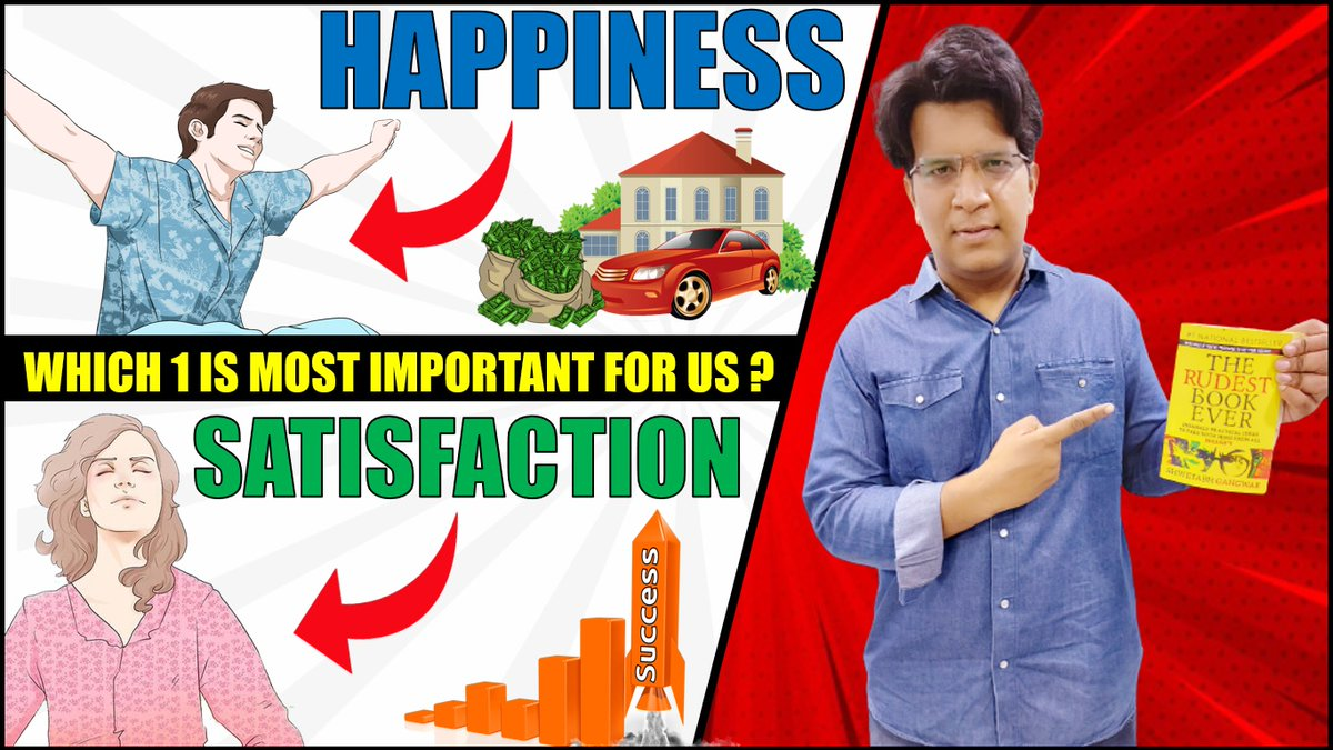 THE RUDEST BOOK EVER SUMMARY (PART 2)   HAPPINESS vs SATISFACTION   WHICH 1 IS MOST IMPORTANT FOR US ? #ShwetabhGangwar  CLICK HERE TO WATCH:    #bookreview #happiness #satisfaction #therudestbookever #sundaymotivation #sundayvibes #SundayThoughts
