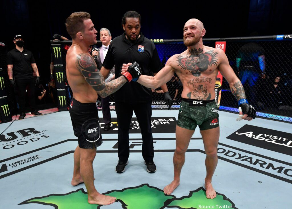 "Conor McGregor Knocked Out By Dustin Poirier In Stunning Upset  ""It's heartbreaking and hard to take,"" said 32-year-old McGregor  Full Story:-   #UFC257  #InAbuDhabi"