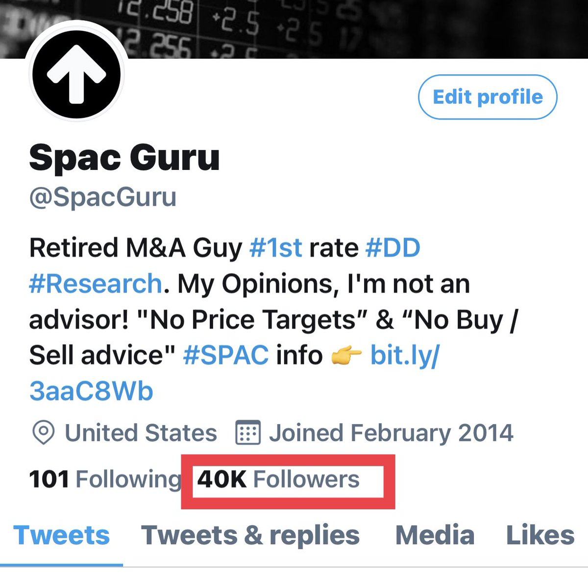 """Wow, 40,000 #Followers! This community is an absolutely amazing group of #friends, all of us working with the same goal. We respectfully discuss our #investing thoughts & """"We all win together"""" 👊 Please ask your friends to join us. #collective #Intelligence #Humbled 🙏 #Share #RT"""
