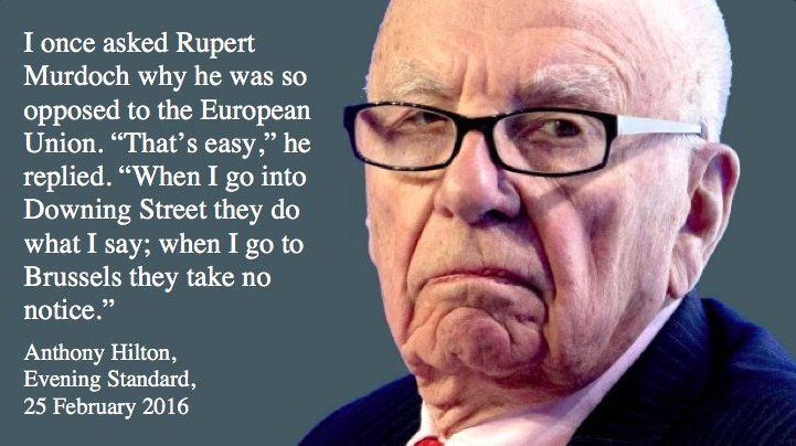 The Murdoch dynasty has done vastly more harm to our society and democracy than Putin. Labour wont dare challenge the power of the Murdochs and the other media barons, but for the sake of our democracy and our society we must. #MurdochOut