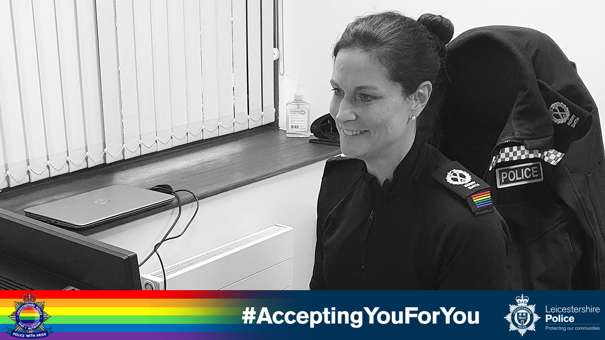 Another #TBT to #LGBTHM2020   Last year we showcased @leicspolice's staff, #AcceptingYouForYou daily media campaign!   See what we hve installed for #LGBTHM21  #WatchThisSpace  Just some of our officers that helped out... @TACCLeicsPolice  @LPSpecialOps  @CityCentreNPA   🏳️🌈👮♂️👮🏳️⚧️