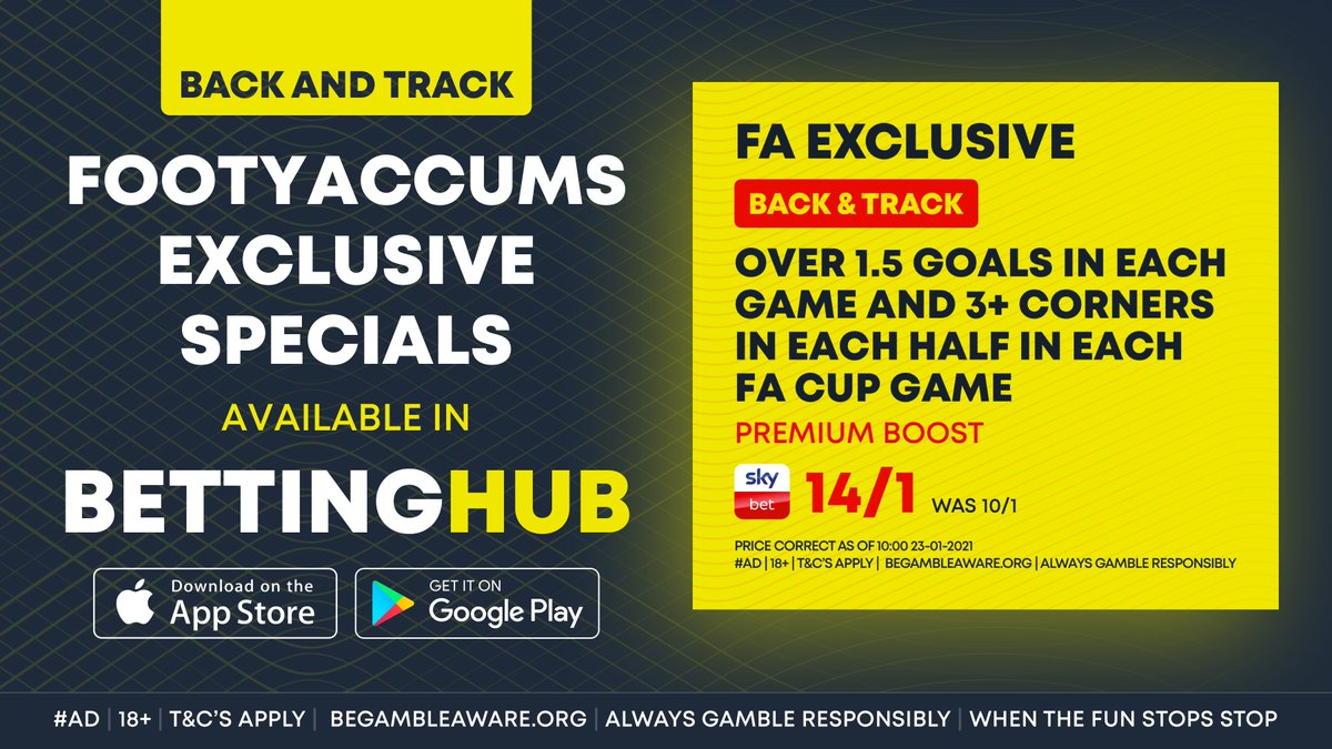 ⏰ THIS STARTS IN 15 MINUTES!  ⚡ @FootyAccums have picked this Premium Boost for the upcoming games.   📲 Back and track this in the Betting Hub app now:    #Ad | 18+ |  | T&C's Apply