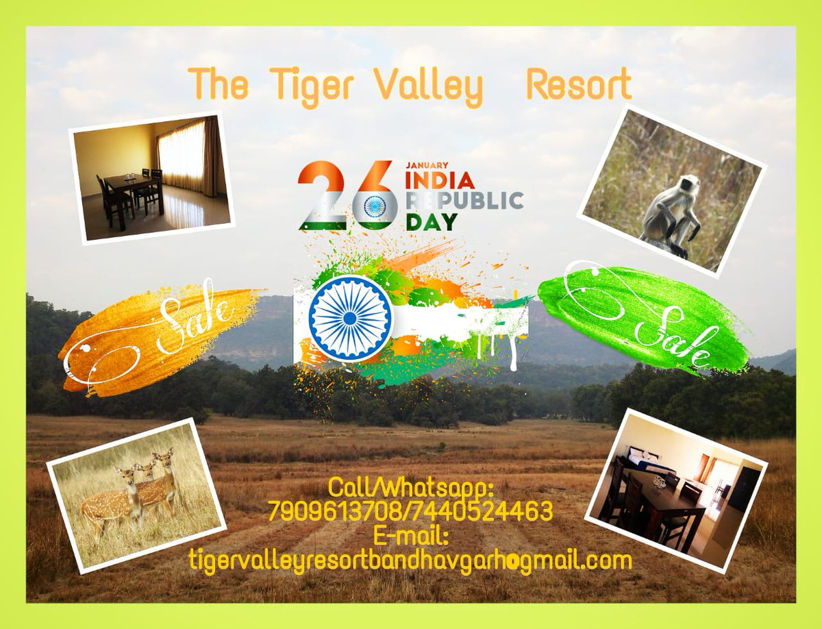 Republic Day Sale Book now  #bandhavgarh #mptourism #sundayvibes #RepublicDay2021 #weekendvibes #TigerNation #Safari #wildlife #wildlifephotography #blogger #vlog #birdwatching   Book your stay with us: Call: 7909613708/7440524463 E-mail: tigervalleyresortbandhavgarh@gmail.com