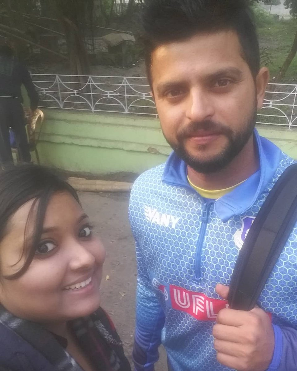 23rd Jan 2018 Jadavpur University, Salt Lake Campus.After 9Years wait I met you @ImRaina❤🙏  The convo- Aka: Finally! (blankly looking at him)  Suresh: Yes!  Suresh: All good?  Aka: Yes Aka: I'll be coming 2 take your autograph sometime later  Suresh:Okay!(smiles)❤🙌 #Raina 🥰