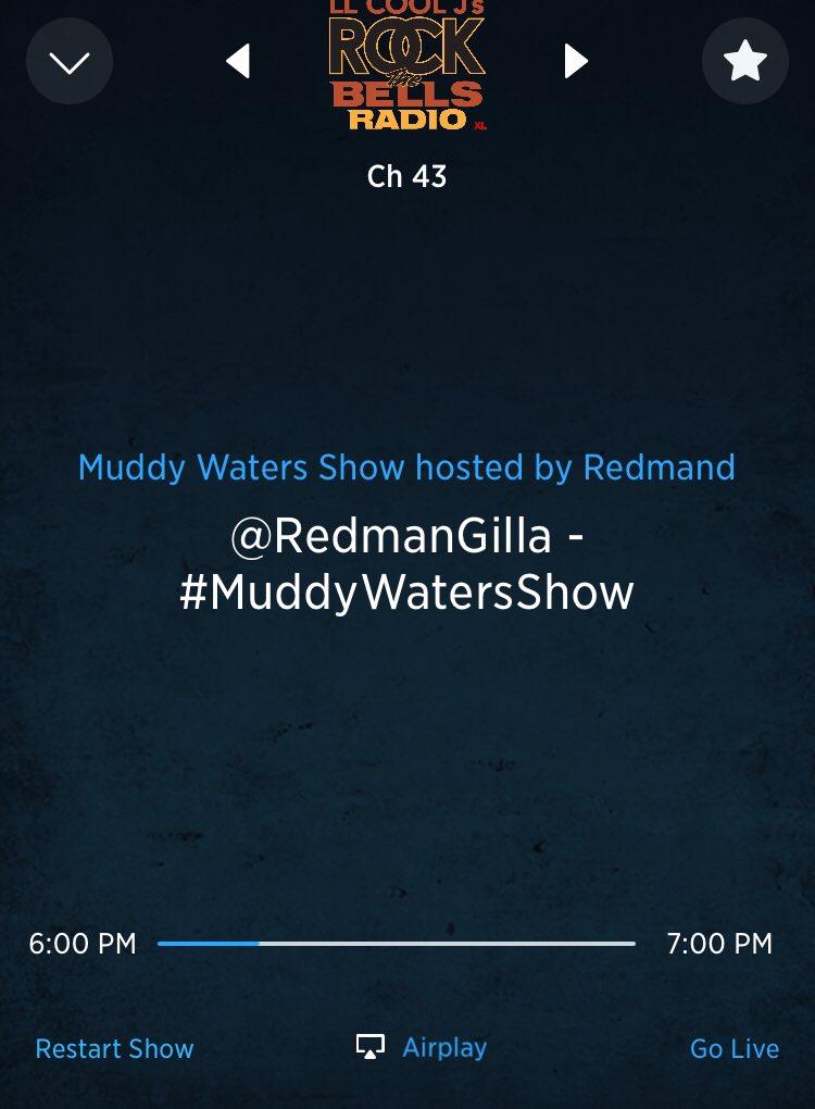 Listening to @dionnewarwick, @naughtybynature, Fugees, Whitney Houston, @IAMQUEENLATIFAH, @FINALLEVEL, @doitallfornwk, @therealrahdigga, @officialjaheim, @fettywap, @Pacewon, @driickygraham on @therealredman's #Jersey #MuddyWatersShow on @RockTheBells #nj #redman #brickcity
