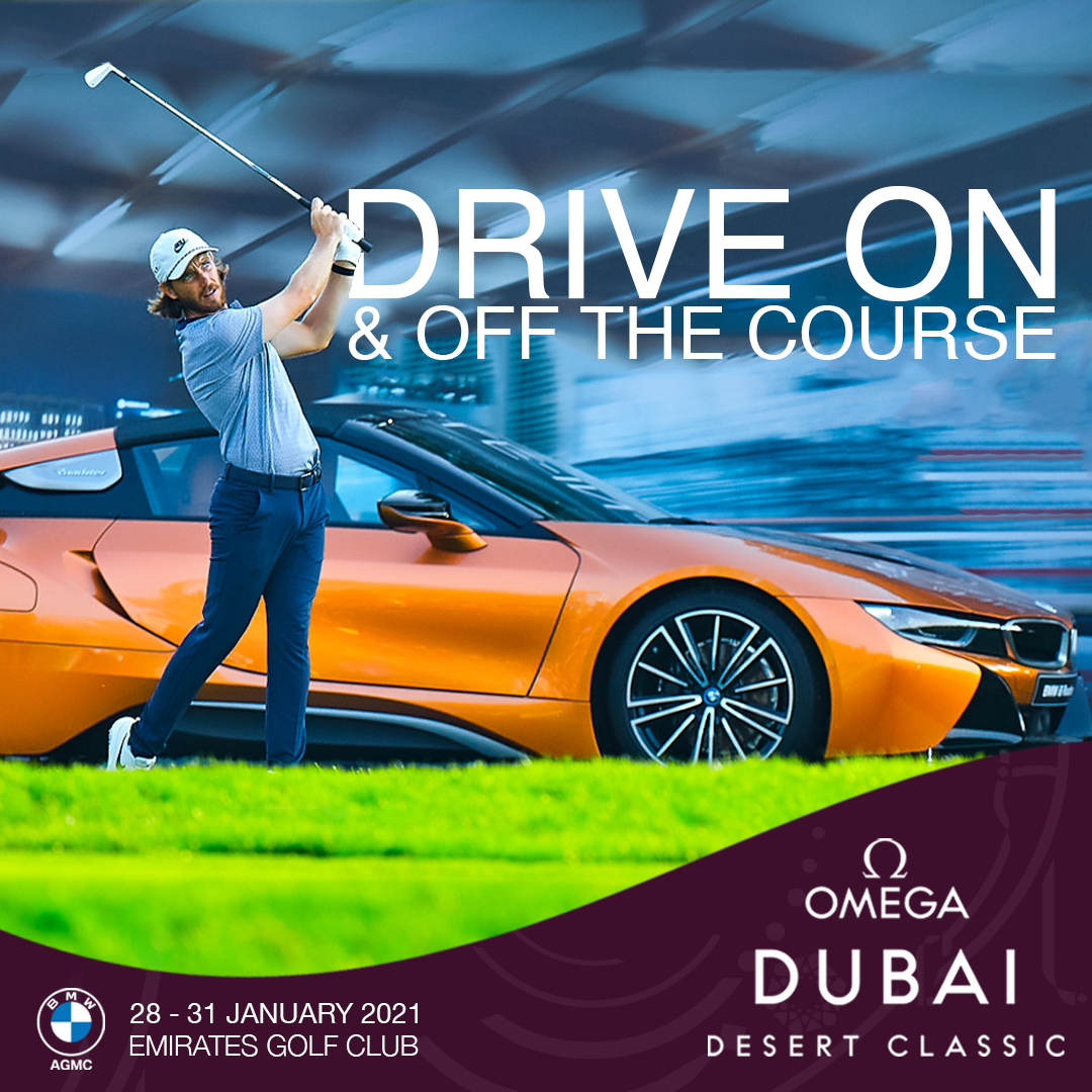 Who's looking forward to the 2021 Omega Dubai Desert Classic tournament @omegagolfdubai? 🏌️ . AGMC is a proud partner of #ODDC2021 running 28-31st of January⛳ . #MadeForGreatness #TimeToMakeHistory #BMWAGMC