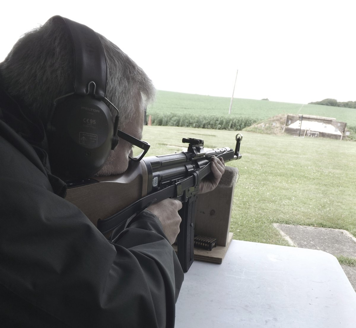 In late 1944 the MP-44 was finally dubbed the StG 44 or the Sturmgewehr (Storm Gun) 44. The German industry pumped out 425,977 StG's for the Wehrmacht. WW2 Experience #skillatarms #vyv #vyvyan #family #love #friends #happy #riflerange #art #outdoorfun #happiness #familytime #wwii