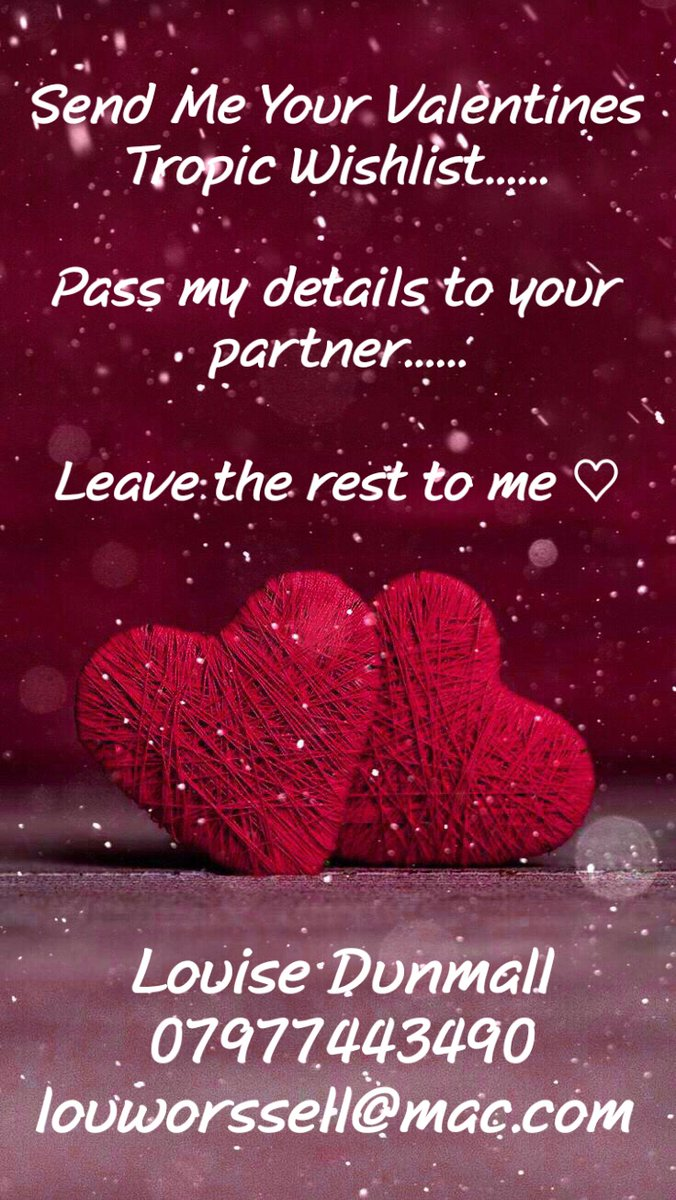 Valentine's Day will be soon upon us and if you'd like a special gift from Tropic im here to help! 🥰 Your very own Tropic Cupid ❤  Pop me a message with your wishlist and pass my number to your partner and I'll do the rest! Valentines shopping made easy 💋💋💋