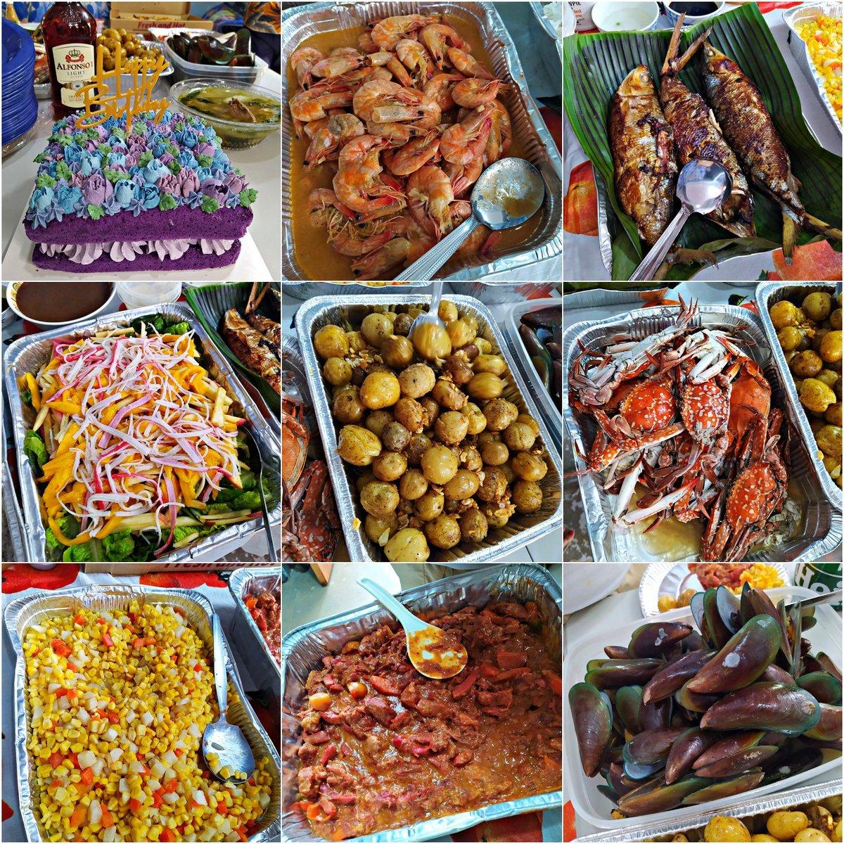 #birthdaycelebration #HappyBirthdayToMe 🥳🥳  #lechon #butteredshrimp #mussels #crab #cornandcarrots #babypotatoes #sotanghon #snrpizza #milktea #cakes #kanisalad #grilledbangus #beefcaldereta #valenciana 🤤🤤🤤❤️❤️❤️  Thankyou lord for all the blessings! #27th #happybirthday