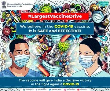 Covid Vaccine is Safe and Effective. #CovidVaccine  @MoHFW_INDIA @MIB_India @PIB_India @mygovindia @nhm_assam @SpokespersonMoD
