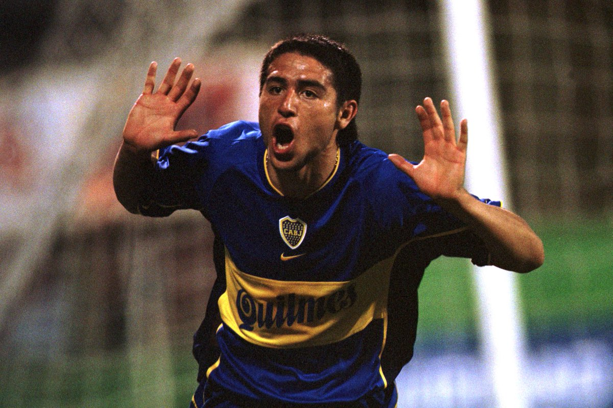 """🗣️ """"The best toy I've ever had is a football. The person who invented is my hero.""""  🔙 #OnThisDay in 2015 a man who did astonishing things with a ball retired. Fans of @BocaJrsOficial, @VillarrealCF, @Argentina and insane nutmegs will never forget Juan Roman Riquelme's magic"""