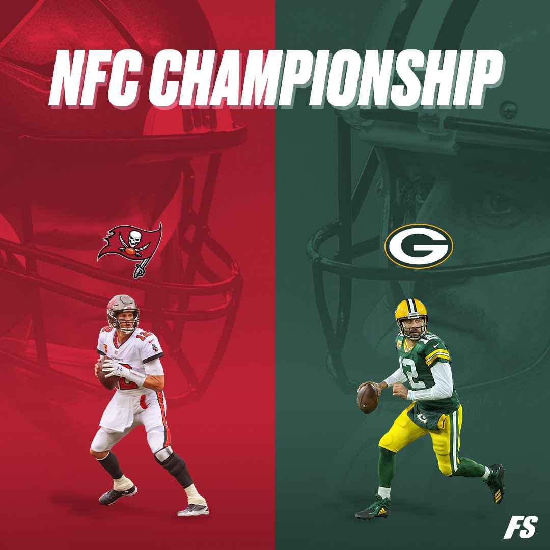NFC Championship:  WHO YA GOT?   ❤️ for #GoBucs  🔁 for #GoPackGo