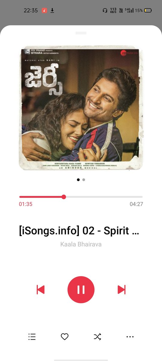 I Listen this Song Meanwhile every time for getting Inspiration #Jersey #SpiritOfJersey  Thanks @anirudhofficial for this motive Song 🔥🏋️ @NameisNani  #TuckJagadish