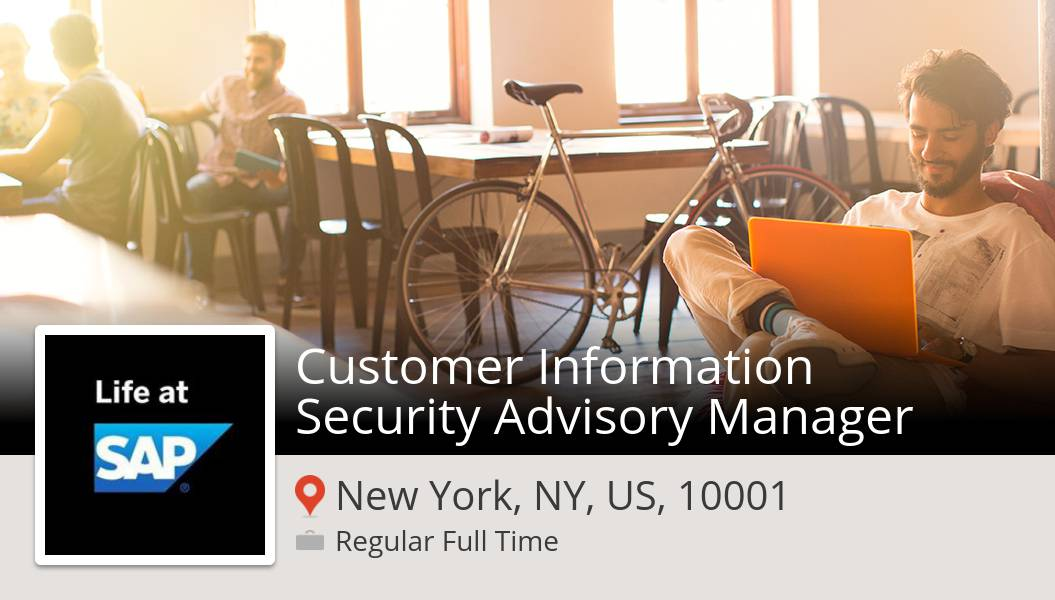 Are you a Customer #Information #Security Advisory Manager in #NewYorkNYUS10001? #SAP is waiting for you! #job  #JobsAtSAP