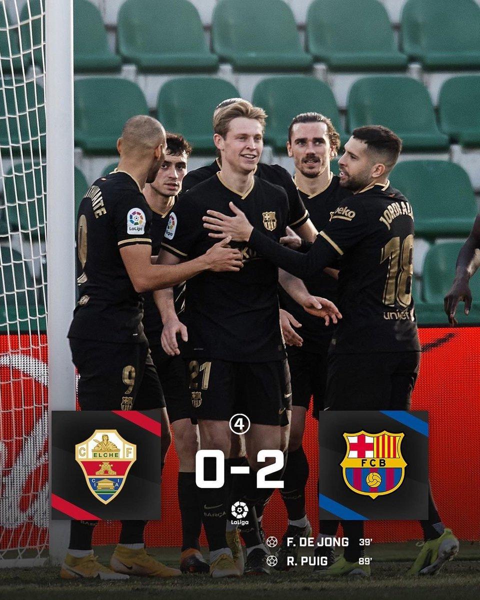 Goal & assist for @DeJongFrenkie21 as Barcelona beat Elche 🔵🔴