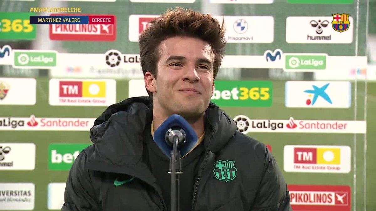 😍 El dia que marques el teu primer gol oficial amb el Barça  @RiquiPuig