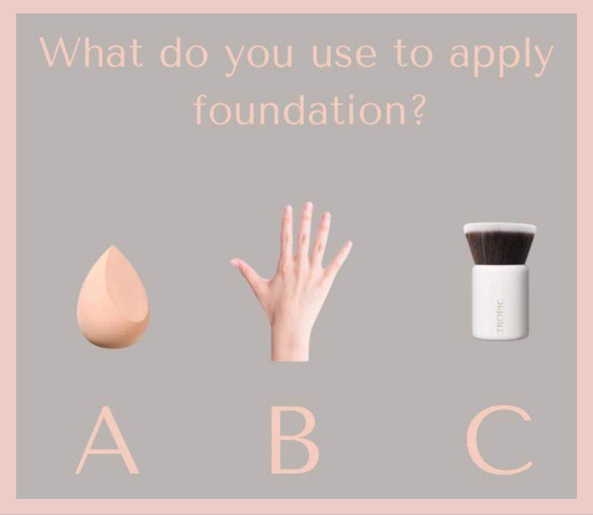 How do you apply your Foundation?