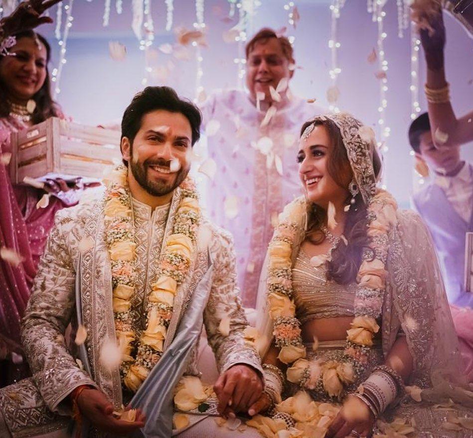 Mr and Mrs Varun Dhawan officially 😍❤😭 @Varun_dvn  Rab Mehar kare 🙏💙  I love you guys a lot