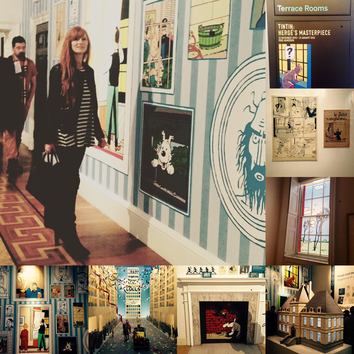 It's no secret I'm a big fan of #animation history.  (🎧You can hear some of my @BBCRadio4 docs on @Disney, #CosgroveHall & more here: )  Pics #OnThisDay 5yrs ago @SomersetHouse's brilliant #Tintin exhibition. Can't wait to go to museums & galleries again.