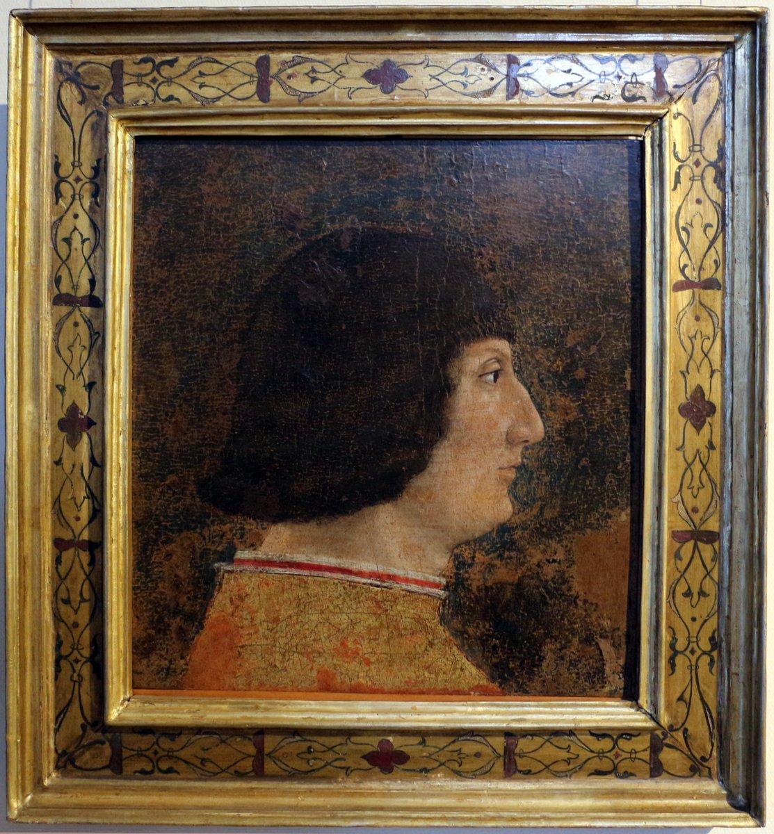 Born #OnThisDay in 1444: #GaleazzoMariaSforza (1444-76),  Duke of Milan   Portrait attributed to Zanetto Bugatto, ca. 1474  #Sforza Pinacoteca del Castello Sforzesco