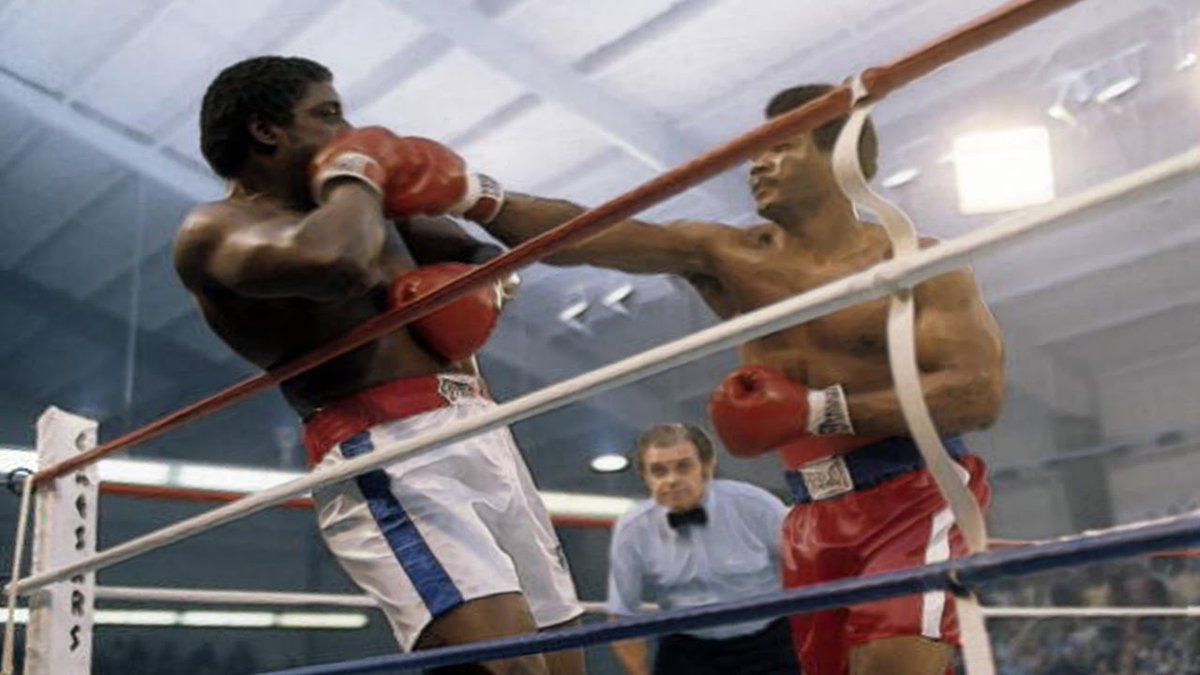 1976 @ringmagazine fight of the year was George Foreman/Ron Lyle #OnThisDay by KO in the fifth round for the vacant NABF heavyweight title @caesarspalace #Vegas @BoxingHistory @talkSPORT @WorldBoxingNews @BoxingKingdom @eddraper81 @BoxingNewsED