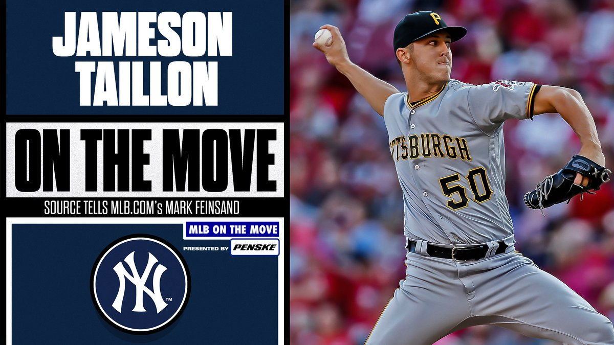 The Yankees reportedly have a deal in place to acquire RHP Jameson Taillon from the Pirates, per @Feinsand.