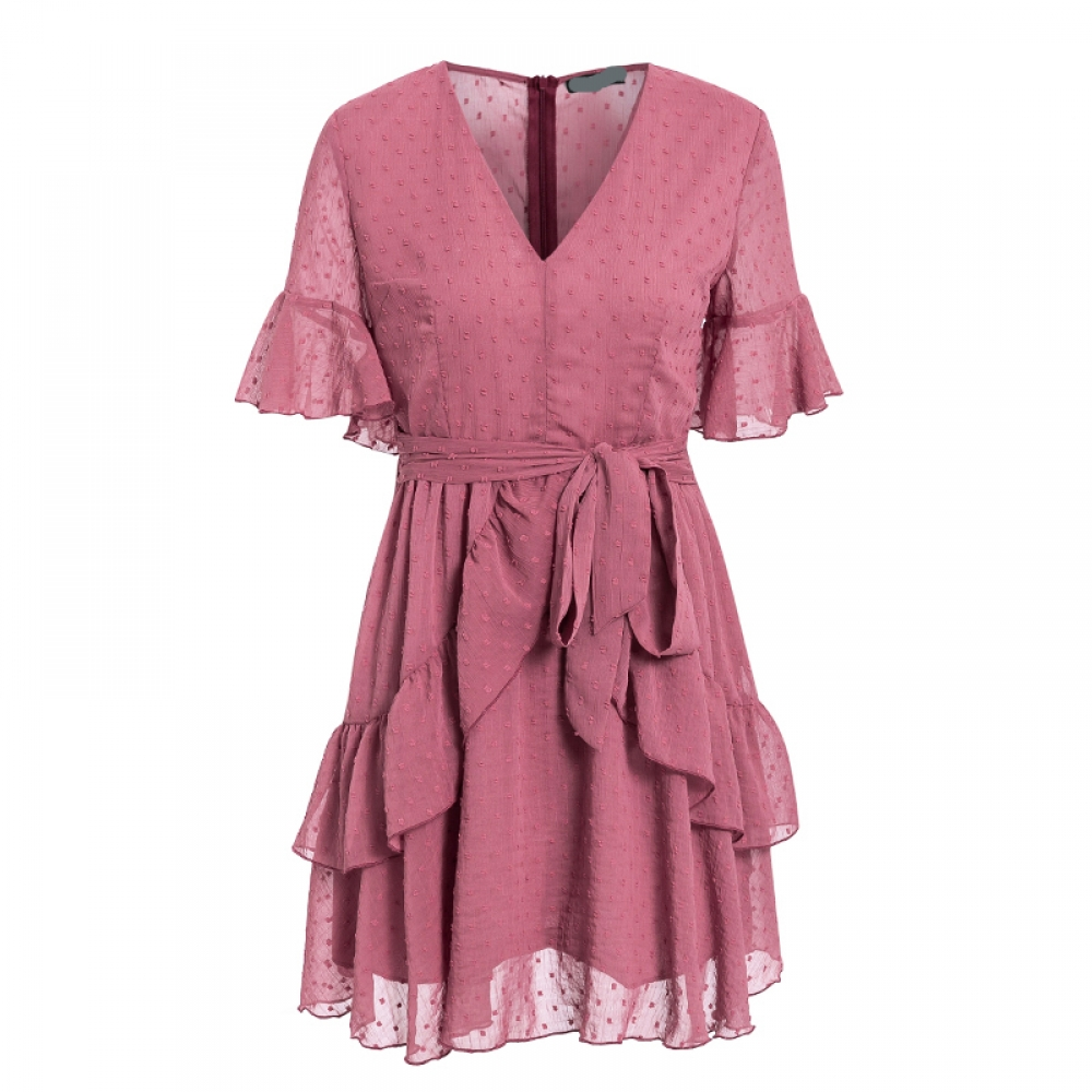 #shoes #pretty Bohemian Chiffon Dark Pink Dress