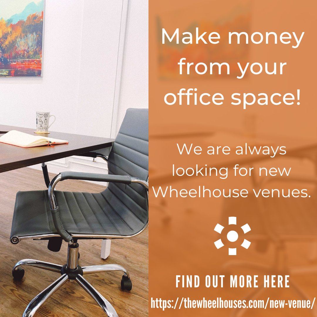 Do you have under-utilised office space?   We are always looking for spaces to turn into fabulous new Wheelhouse venues. Message us to find out more, or visit us at   #officespace #coworking #smallbusiness