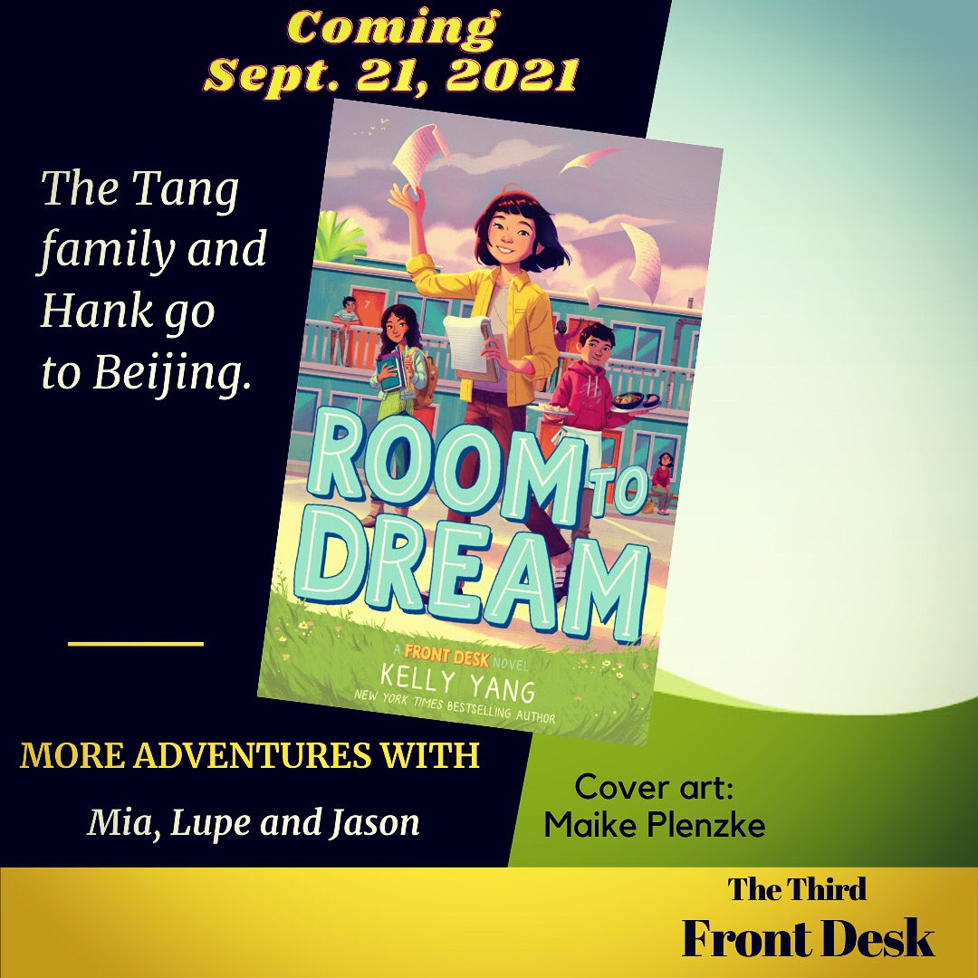Thank you @kellyyanghk and @maike_illu I just finished Room to Dream thanks to @edelweiss_squad Digital ARC. Eager for our readers to enjoy more adventures with Mia this fall. . . . #RoomToDream #KellyYang #FrontDesk #Edelweiss_Squad #Mglit #BookJoy #ReadingMatters