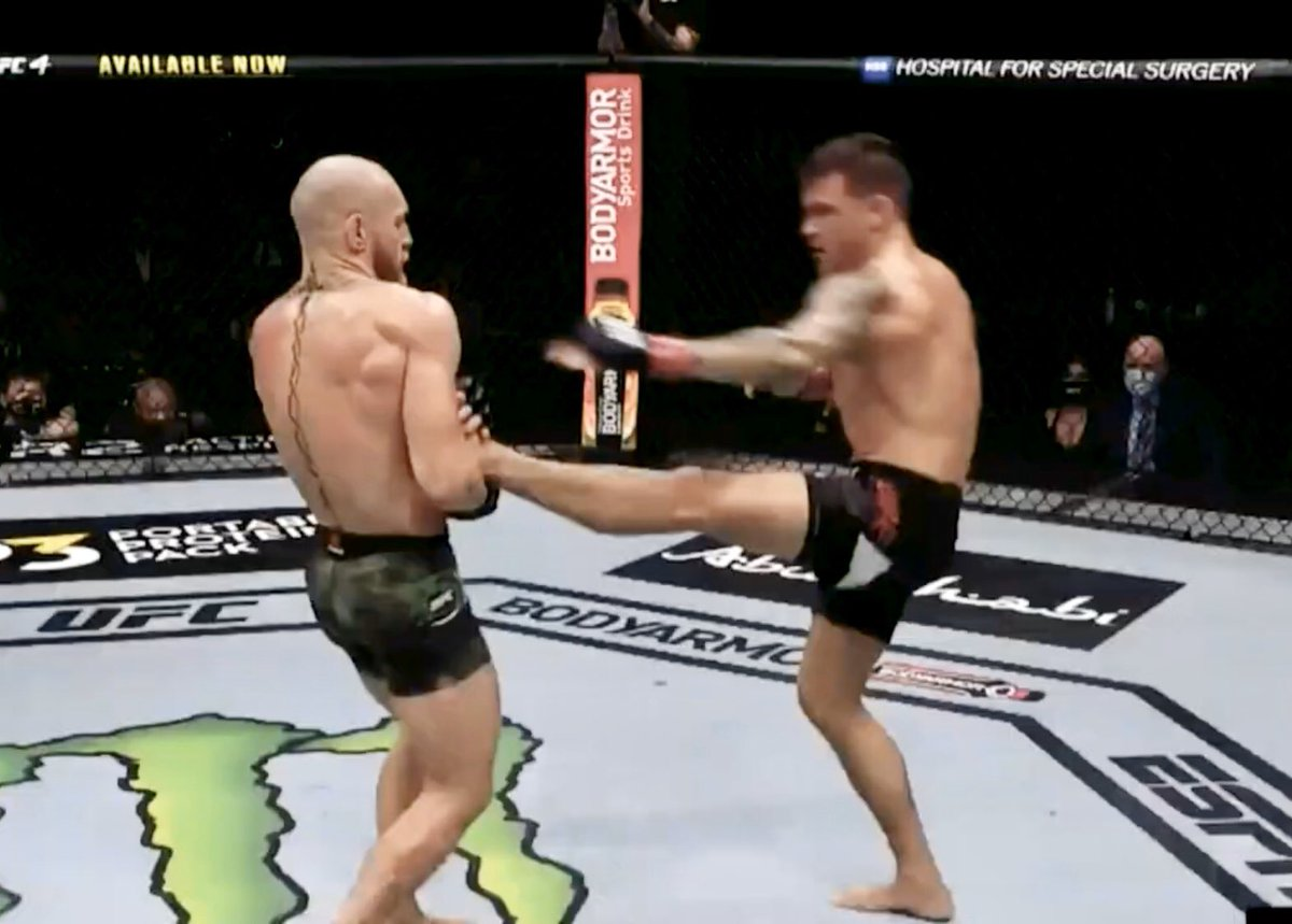 I don't care that Connor lost. Him grabbing and holding Dustin's leg 3x's was still mad disrespectful and badass #UFC257