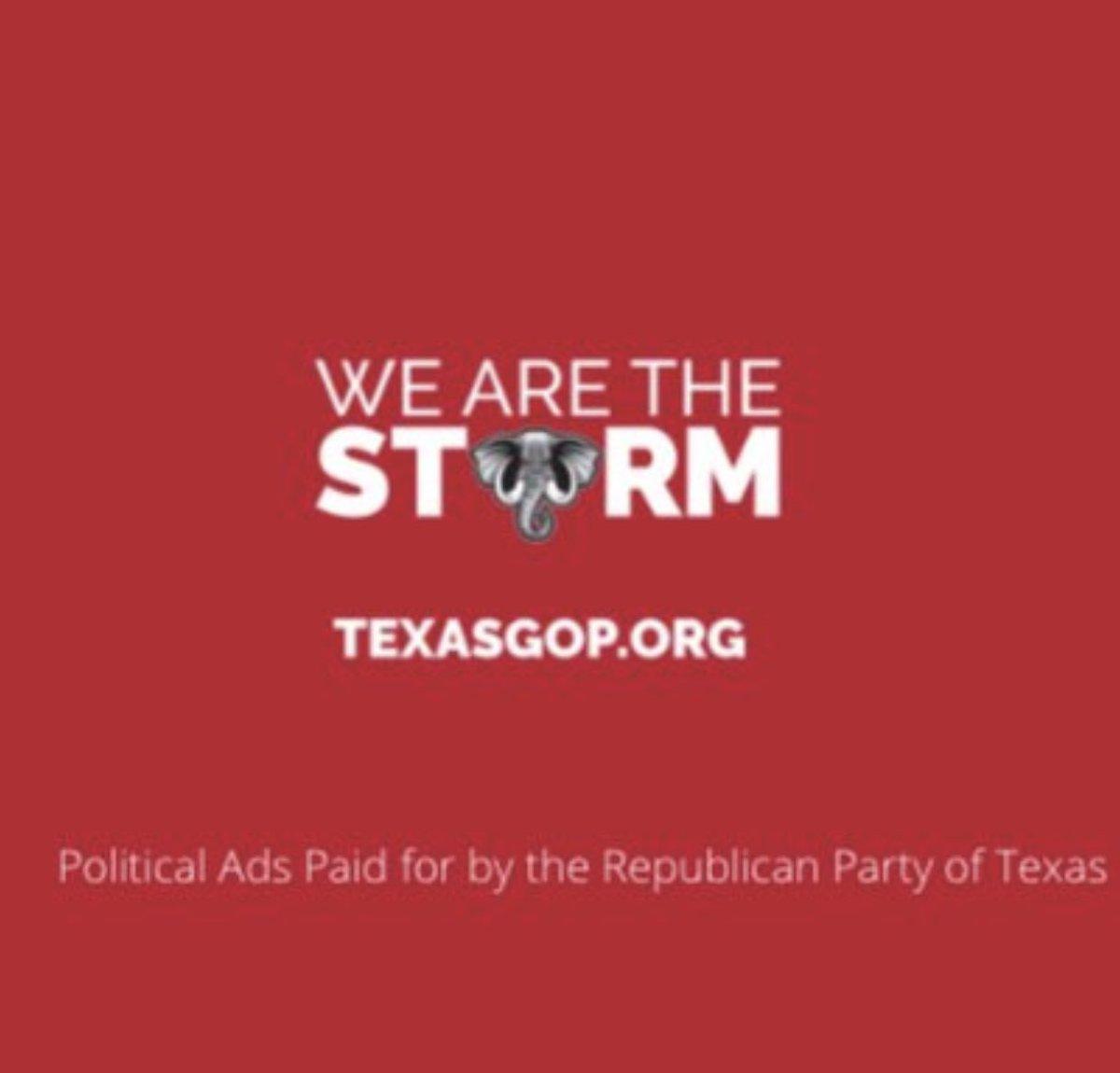 The @TexasGOP went full Qanon, this strikes me as bad