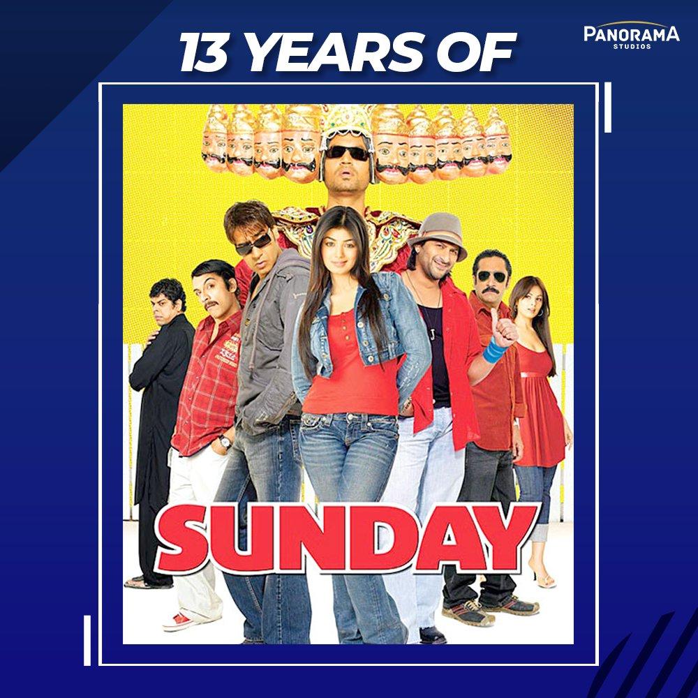 They missed a Sunday but we gained a wholesome comedy that tickles our ribs even today.  Celebrating 13 years of #Sunday.  @ajaydevgn@ArshadWarsi@irrfank@Ayeshatakia @KumarMangat@AbhishekPathakk #RohitShetty