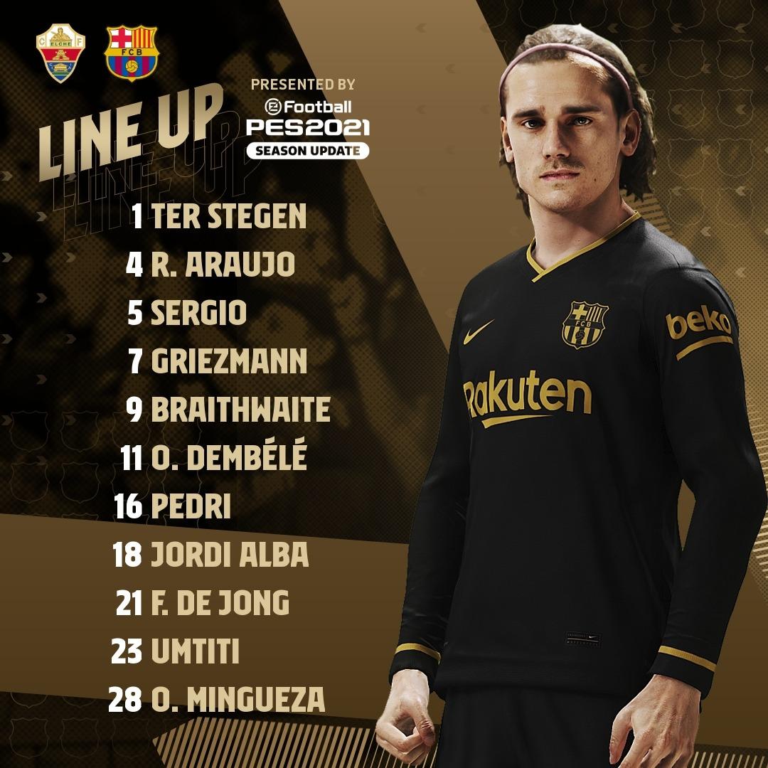 Barça XI #ElcheBarca 💪🟦🟥