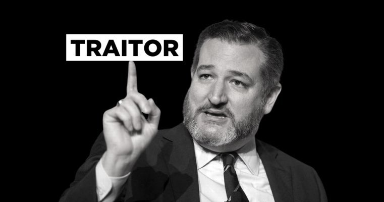 @PalmerReport Ted Cruz ... #TedCruzIsATraitor #TedCruzIsTheTypeOfGuyWho would raise an #insurrection and #InsurrectionHasConsequences #TedCoup failed and now he is trying to distract everyone with this nonsense, but #ExpelTheTraitors !  #ExpelTedCruzNow