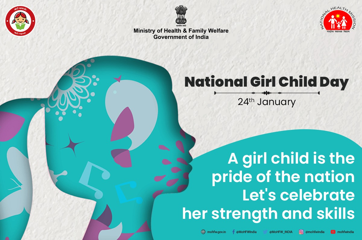 This #NationalGirlChildDay, let's all pledge to protect the rights of the girl child and give her access to equal opportunities to have a healthy, safe and secure future. #SwasthaBharat #BetiBachaoBetiPadhao