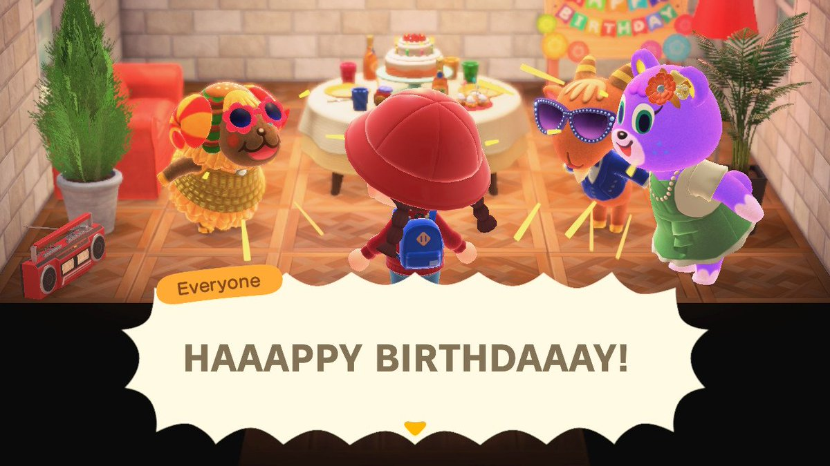 Happy Birthday to me 🎂🎉 Only @animalcrossing remembers my birthday 😭 Who is she? We don't know her 😂😂😂 #happybirthdaytome #animalcrossing #whoisshe