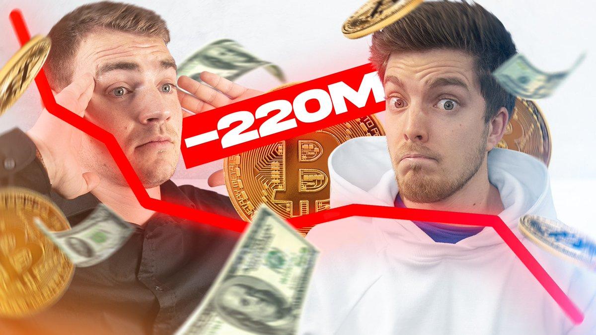 IL PERD 220M (d'euros) en BITCOIN !! - https://t.co/vTDVJSG53o Nouvelle vidéo avec @PowerHasheur pour parler des news dans le monde des cryptomonnaies 🚀 https://t.co/m4xTdlWIH6