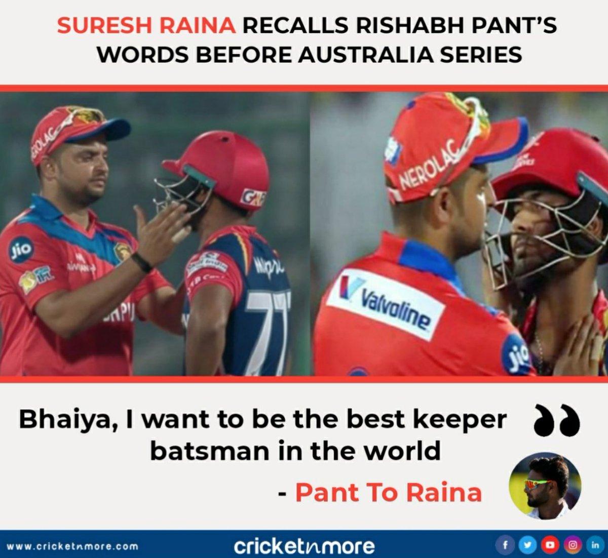 Rishabh Pant's Words before moving toAustralia  Latest Cricket News @  . . #ausvind #indiancricket #teamindia #rishabhpant #sureshraina