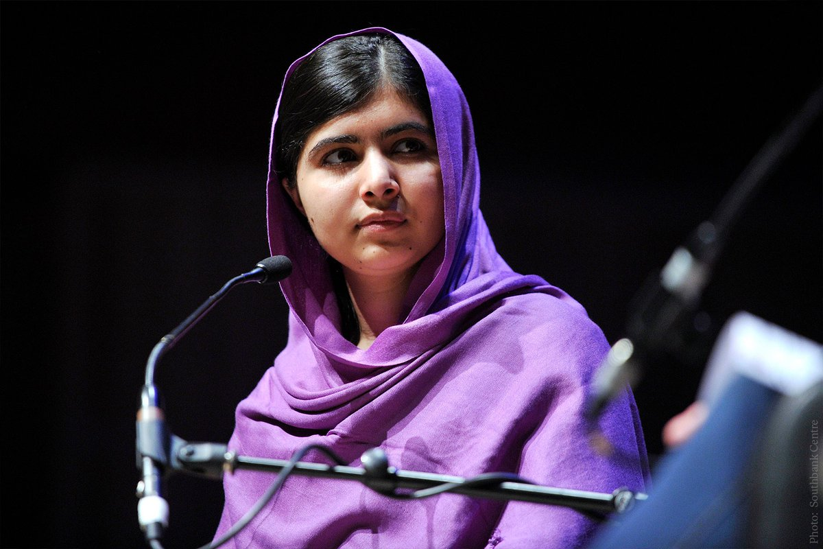 """""""If one girl can change the world, what can 130 million girls do?""""  In 2012, @Malala Yousafzai was shot three times in an attempt to stop her from speaking out for girls' education. Today, the #NobelPrize laureate is a leading advocate for girls' rights.   #EducationDay"""
