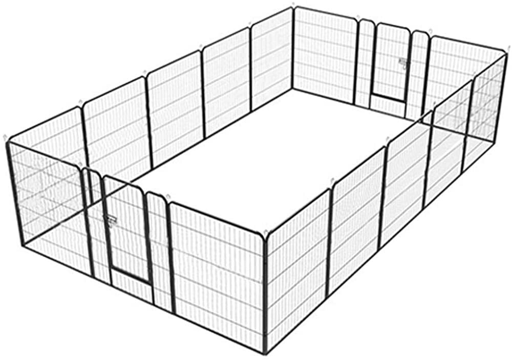 YAHEETECH Portable Metal Fence Folding Pet Playpen with Door/Gate for Large Small Animals Outdoor In  #gifts #giftideas #dog #cat #puppy #pets  #blackfriday #thanksgiving #cybermonday @amazon #amazon #primeday