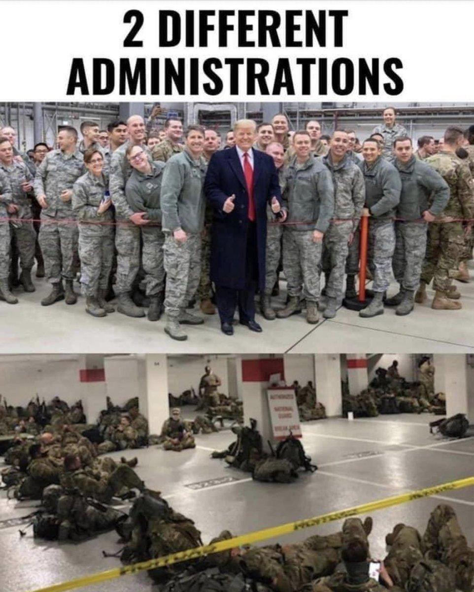 #PresidentTrump vs #PresidentBiden explained in 1 photo