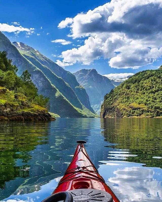 Kayaking in Nærøyfjord Norway #nature #naturelovers #wonderful #beautiful #naturephotography #natureperfection #photooftheday #photograpy #beautiful #world #naturelove #cute #sweet #Travel