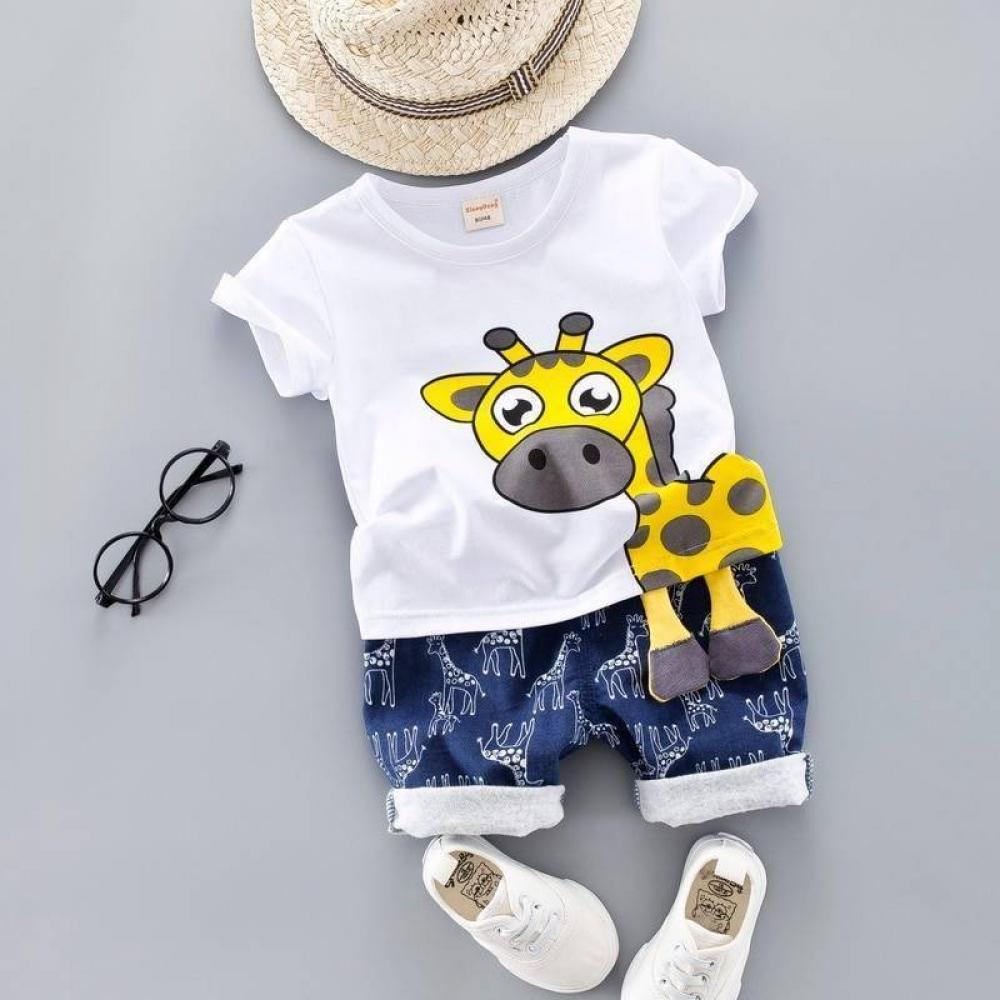Giraffe Printed Clothing Set for Boys #beautiful #sweet