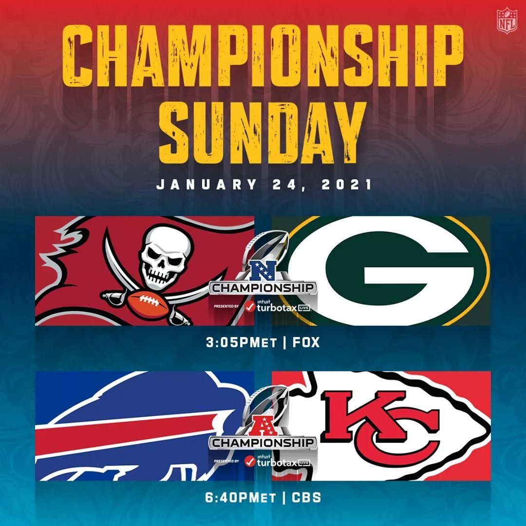 It's NFL Championship Sunday 💪🏈 #NFLPlayoffs #NFL