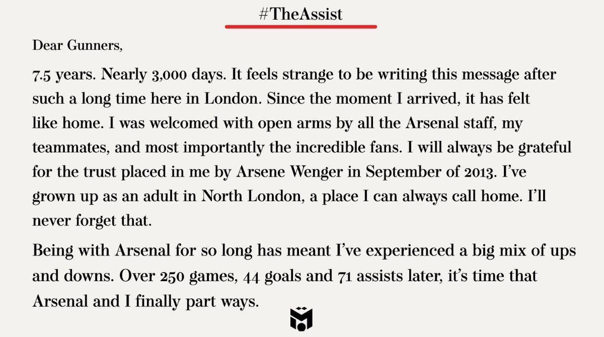 Replying to @MesutOzil1088: Thank you, Gunners! ❤️ #YaGunnersYa