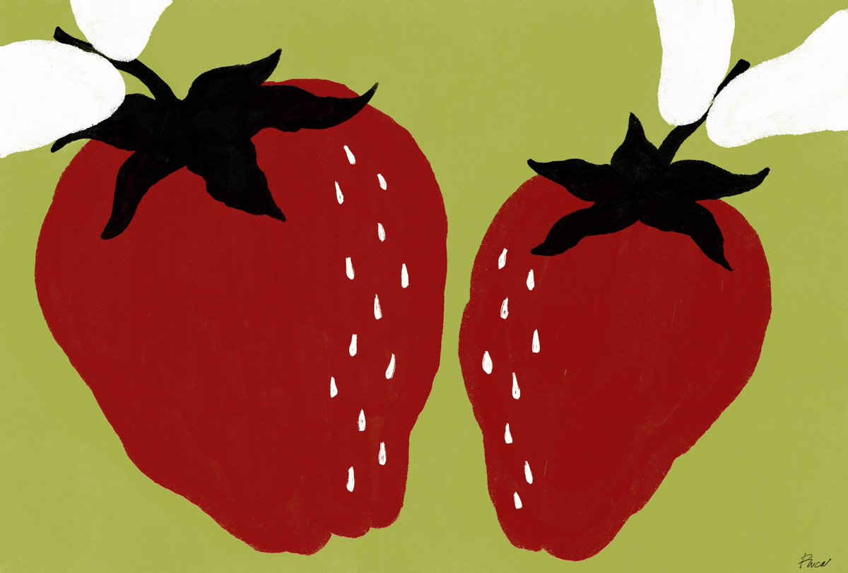 2021.1.24  イチゴを食べたけど 歯の隙間に染みる〜!  #illustration #Illustrator #イラスト #art #graphicdesign  #graphic #graphicdesigner #グラフィックデザイン #日記  #イチゴ #苺 #甘い #strawberry #フルーツ #fruits #赤 #sweet #大きい #big #幸せ #美味しい
