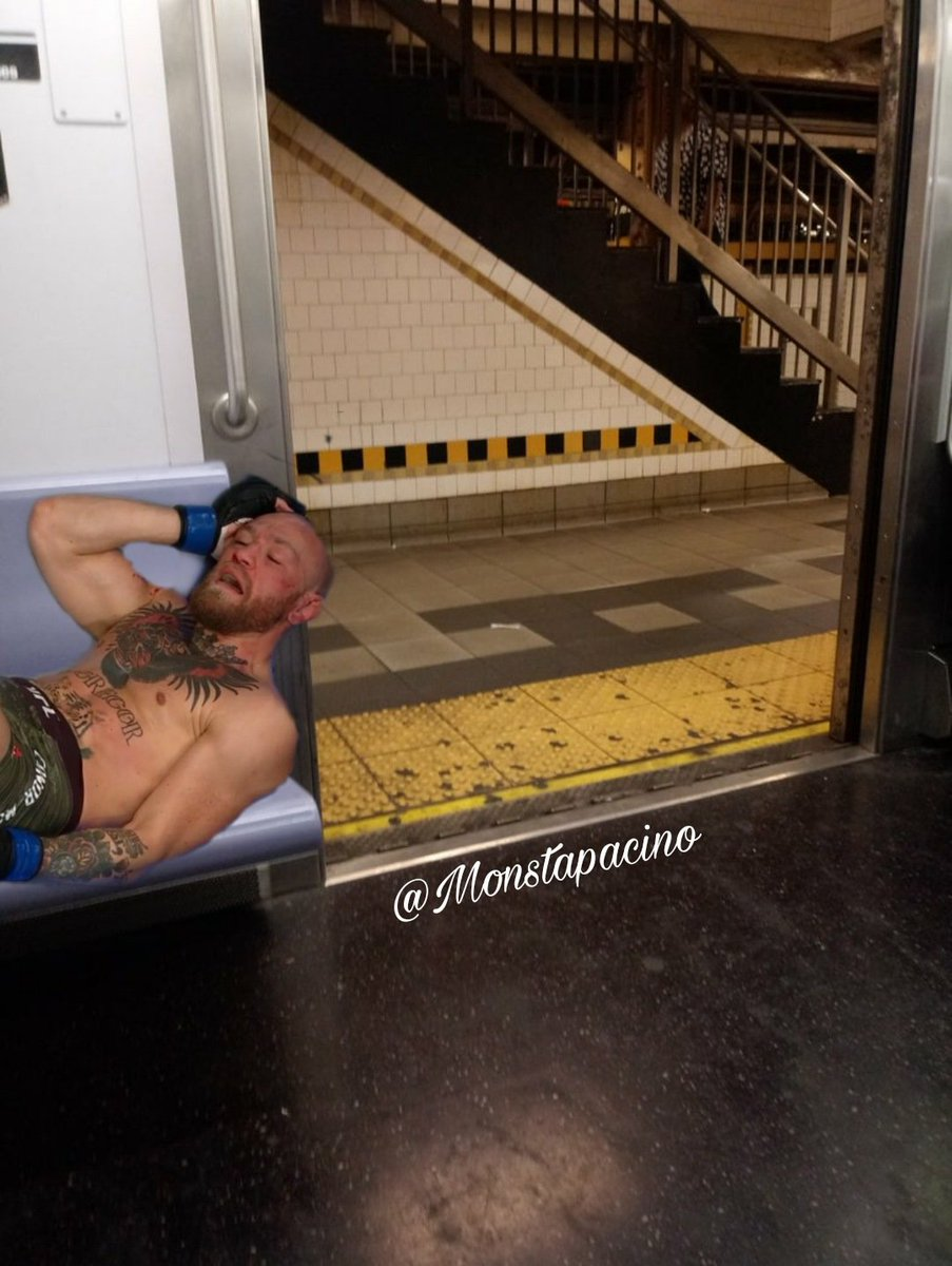 When you trying to sleep peaceful on the 4 train but this Utica #UFC257livestream #ConorMcGregor #goodnight